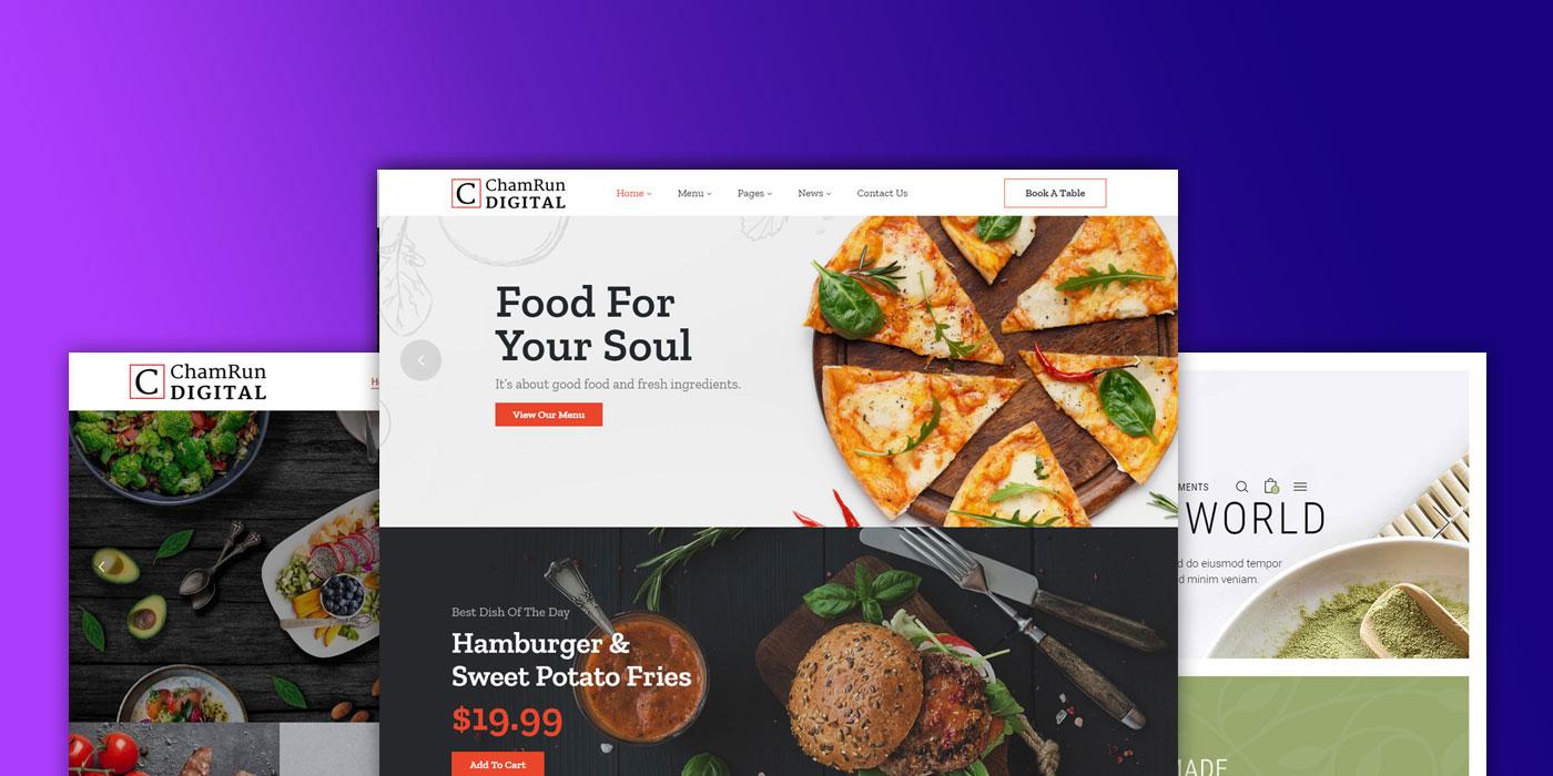 Food or restaurant website