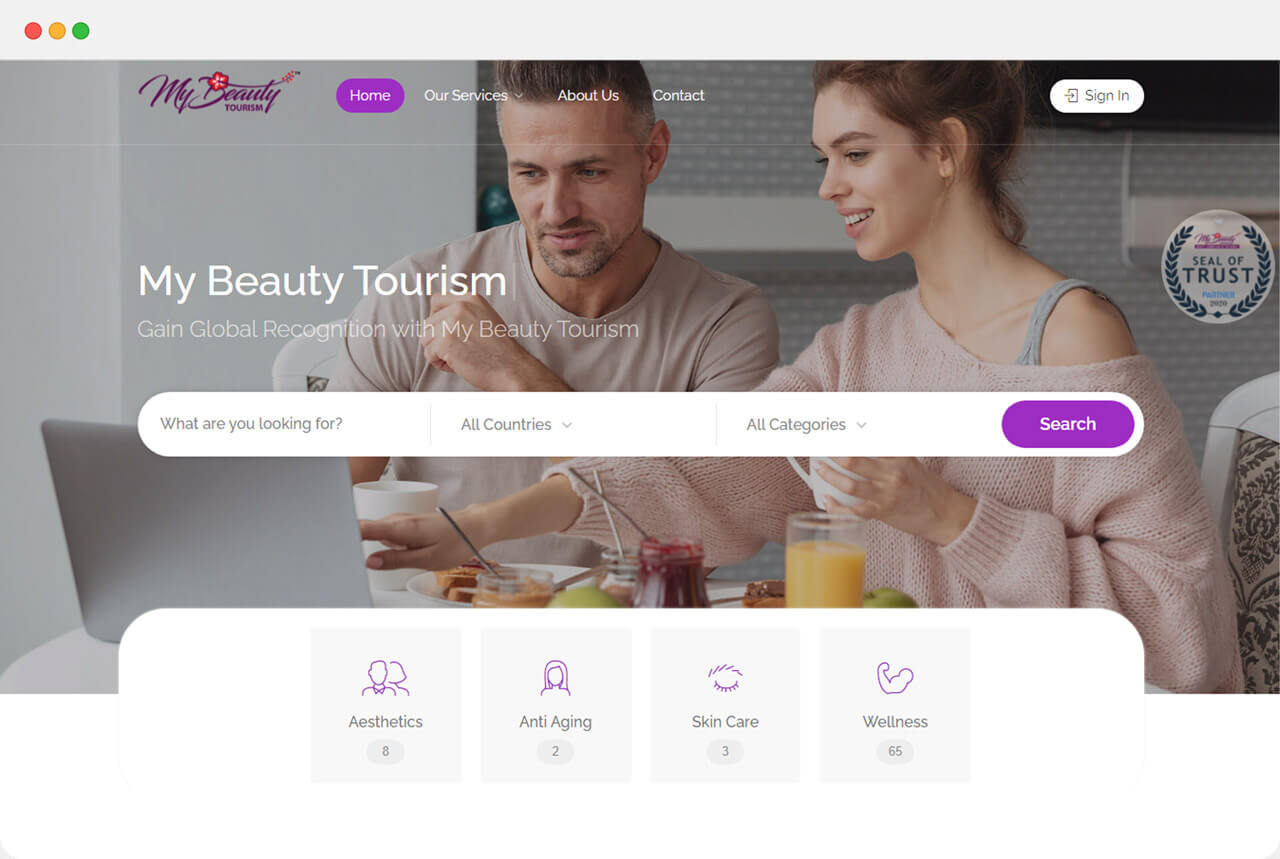 One of our digital solution is a listing software that we built for Malaysia Health and Beauty industry.
