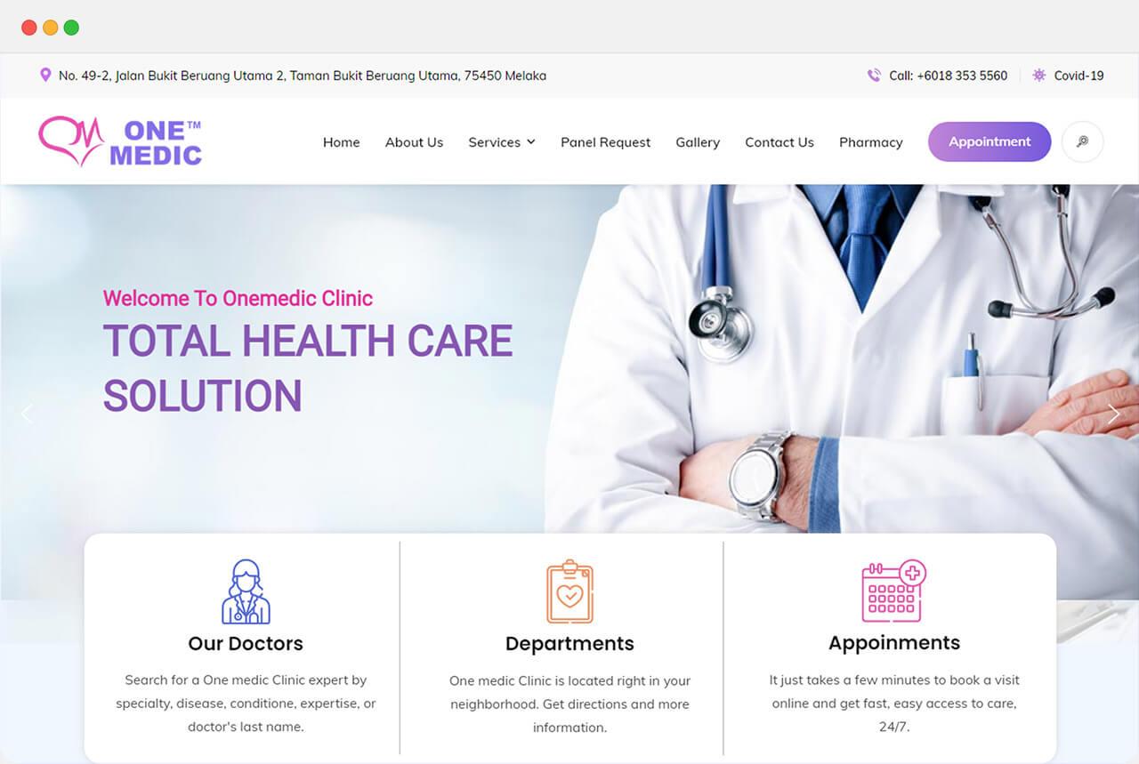 ChamRun Digital - One Medic Website
